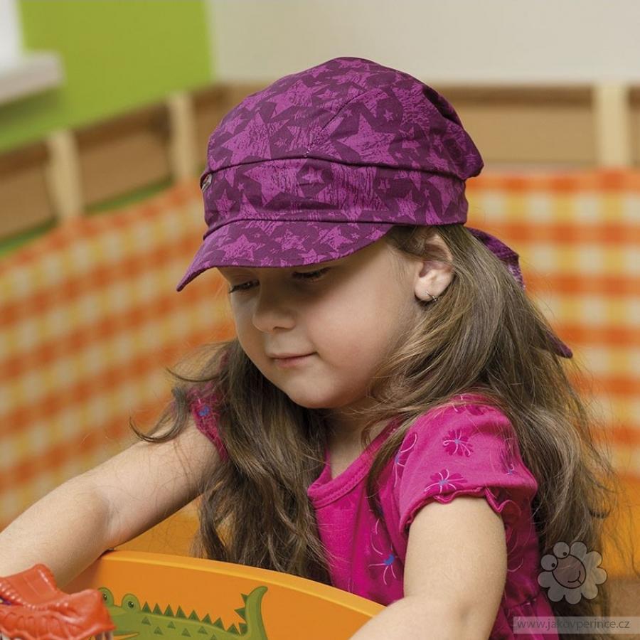 fb378ab8d Hugo dievčenská šatka bavlna s šiltom na zavazovanie Ako v perinke